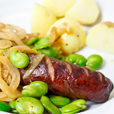 Kielbasa with Sweet Onions & Lima Beans
