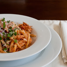 Creamy Sun-dried Tomato,Roasted Red Pepper and Artichoke Pasta