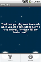 Screenshot of WoW Jokes