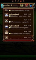 Screenshot of Steampunk Facebook GO Widget