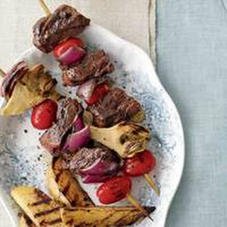 Beef Kebabs with Spiced Honey Glaze