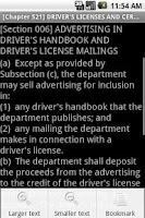 Screenshot of Texas Transportation Code