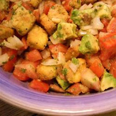 Tomato-Cornbread Salad with Avocado and Cilantro