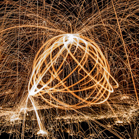Orb by Simon Sweetman - Abstract Light Painting ( wire, long exposure, flare, sparks, glow, light, painting )