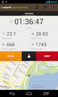 Screenshot of Runtastic Mountain Bike PRO