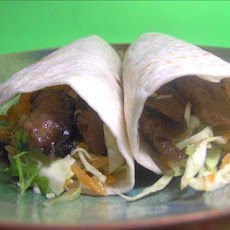 Low-Fat Teriyaki Vegetarian Beef Wraps