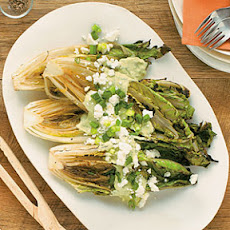 Grilled Romaine with Guacamole Dressing