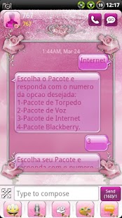 Pink Roses GO SMS Theme - screenshot