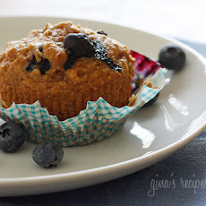 Whole Wheat Blueberry Muffins