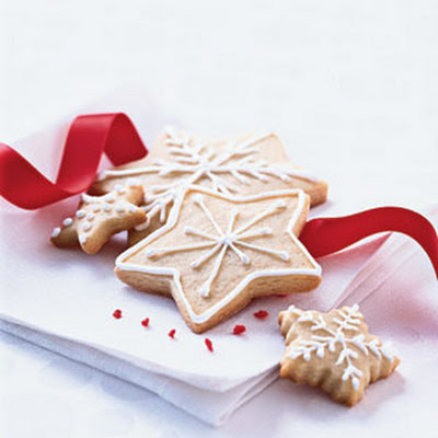 Christmas Sugar Wafers with Vanilla Icing