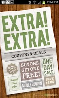 Screenshot of Extra Extra Deals and Coupons
