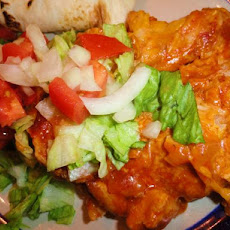 New Mexico Red Chile Chicken Enchilada Casserole