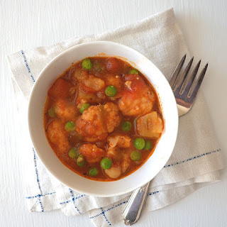 Warm & Cozy Cauliflower, Potato & Chickpea Stew