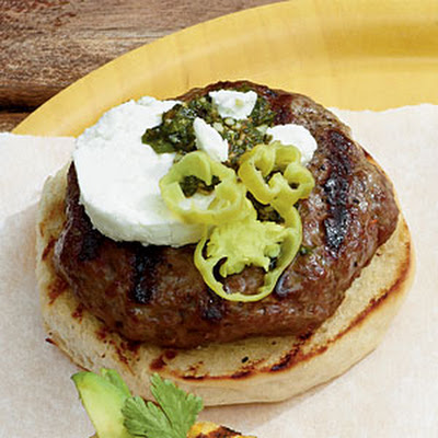 Sun-dried Tomato-Pesto Burgers