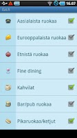 Screenshot of Eat.fi - Restaurant search