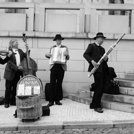 Music in Prague by Liz Ely - Novices Only Street & Candid ( novice, black and white, street, travel, people )