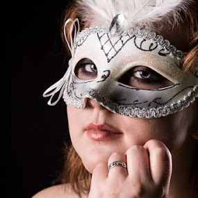 Masked by Stephanie Simmons - People Portraits of Women ( studio, masquerade, masks )