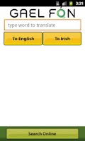 Screenshot of Gaelfon FREE Irish Translator
