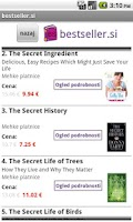 Screenshot of bestseller.si book store