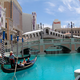 by Timothy Hatch - Buildings & Architecture Bridges & Suspended Structures ( las vegas, gondola, bridges, hotels, venetian )