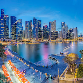 When The Night Falls... by Ong Chee Chung - City,  Street & Park  Skylines ( cbd, building, marina bay sands, night, hotel, architecture, the shoppes, singapore )