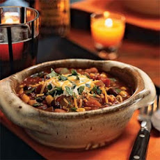 Three-Bean Chili with Vegetables