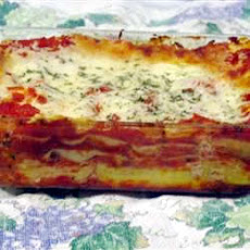 Three Cheese Lasagna