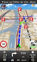 Screenshot of Navigation MapaMap Europe