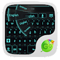 GO Keyboard Black Cyan Theme APK for Bluestacks