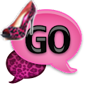 GO SMS - Pink Leopard Heels icon