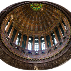 The Illinois State Capital Rotunda by Gary Hanson - Buildings & Architecture Architectural Detail ( white border, illinois, rotunda, state, study, capital )