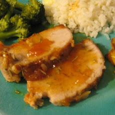 Apricot-Rosemary Glazed Pork Loin