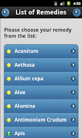 Screenshot of Medicine Cabinet XXL Homeopath