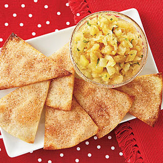 Cinnamon-Sugar Tortilla Crisps with Pineapple Salsa