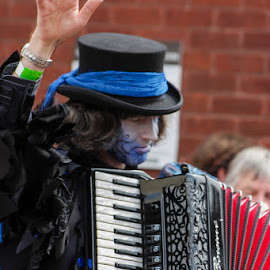 Boggarts Breakfast by David Shaw - People Street & Candids ( folk festival, morris, warwick, accordian, dancer, boggarts breakfast )