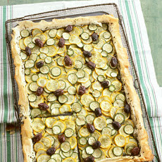 Summer Squash Tart with Olives