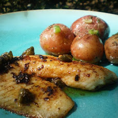 Snapper With Lemon, Capers and Baby Potatoes