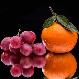 Orange & Grapes by Rakesh Syal - Food & Drink Fruits & Vegetables