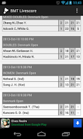 Screenshot of BMT Livescore