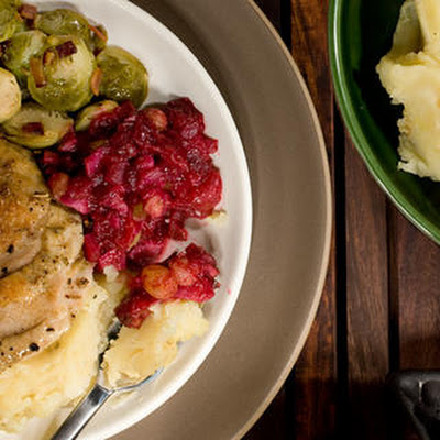 Fennel and Walnut Cranberry Sauce