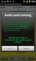 Screenshot of Audio Pack (Al-Ghamidi)