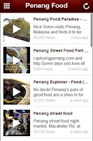 Screenshot of Penang Food