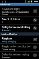 Screenshot of LED Notify (root users) trial