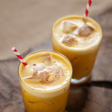 Pumpkin Pineapple and Rum Cocktail