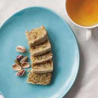 Pistachio-Almond Bars with Citrus Glaze