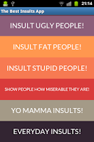 Screenshot of Best Insults And Angry Sayings