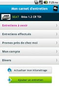 Screenshot of Carnet Entretien Auto