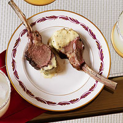 Baby Lamb Chops with Rosemary-Mustard Sauce
