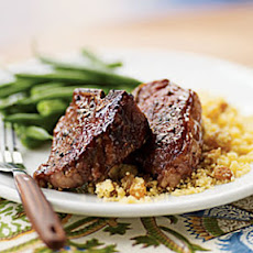 Five-Spice Lamb Chops with Citrus-Raisin Couscous