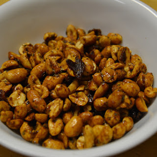 Spicy Maple Peanuts and Bacon